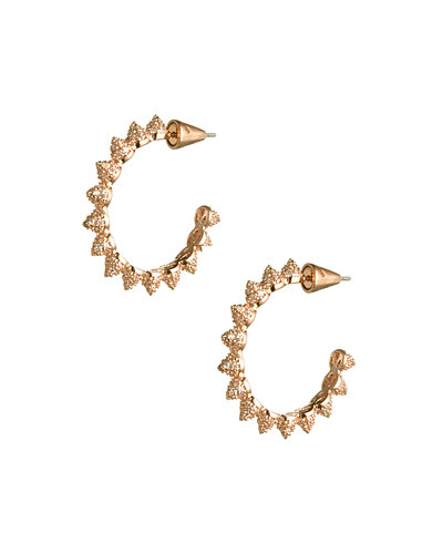Pave Mini Cone Hoop Earrings