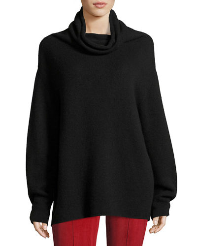 Lexer Oversized Cashmere Cowl-Neck Sweater