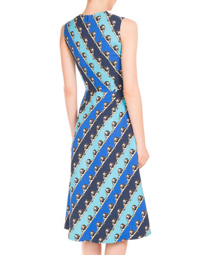 Osmond Grid-Print A-Line Dress