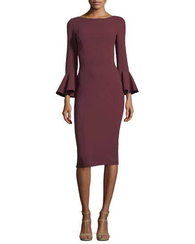 Bell-Cuff Sheath Dress