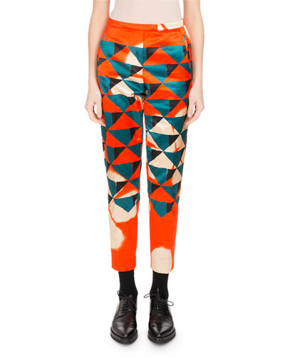 Pama Geometric-Print Satin Pants