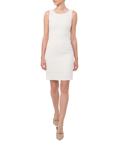 Sleeveless Wool-Crepe Sheath Dress
