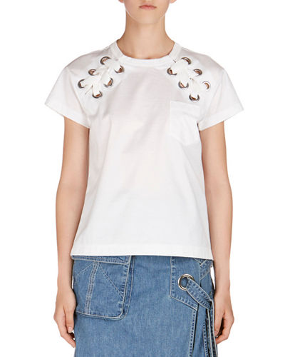 Lace-Up Short-Sleeve T-Shirt