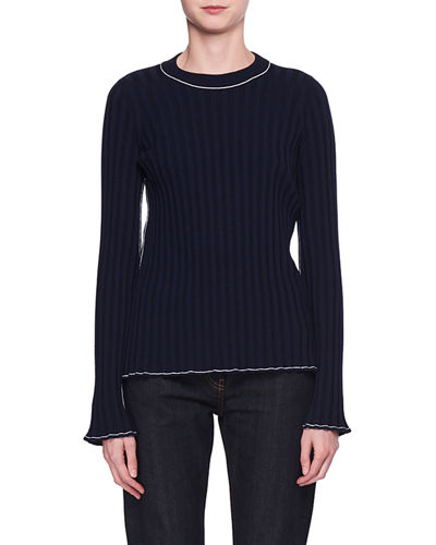 Merlum Tipped Crewneck Sweater