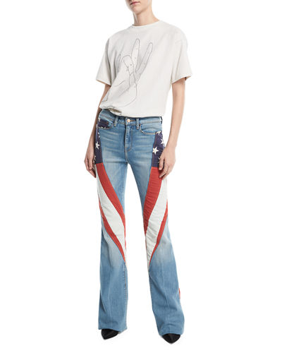 Demi-Vintage Denim Flag Flared Jeans