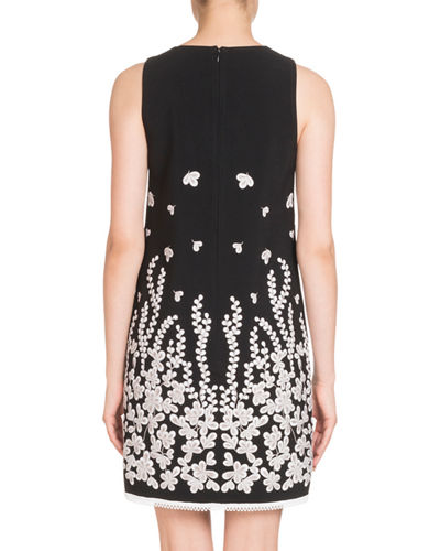Sleeveless Embroidered Shift Dress
