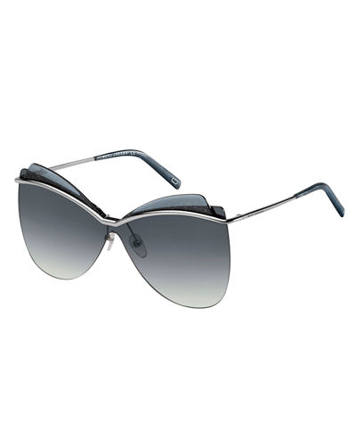 Marc Jacobs Metal Butterfly Shield Sunglasses
