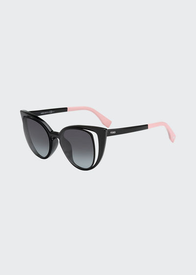 Paradeyes Open-Inset Square Cat-Eye Sunglasses