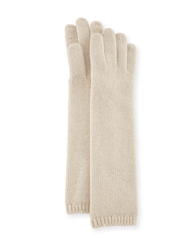 Long Cashmere Tech Gloves