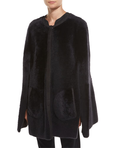 Shearling Fur Shorty Cape