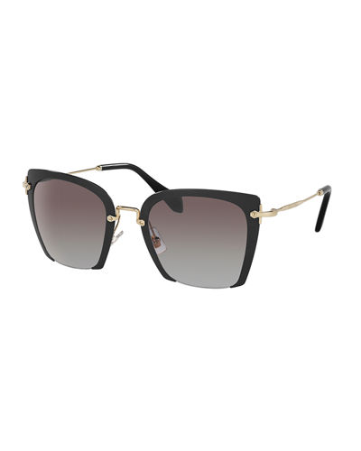 Square Gradient Cutoff Sunglasses