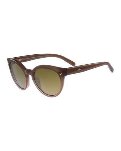 ROUNDED CATEYE SUNGLASSES