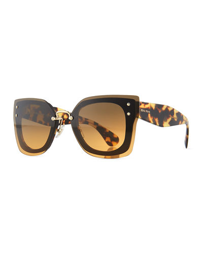 1fd3eb1239f3 Square Butterfly Sunglasses w  Overlay Lenses
