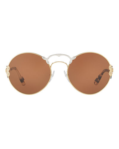 Monochromatic Round Sunglasses