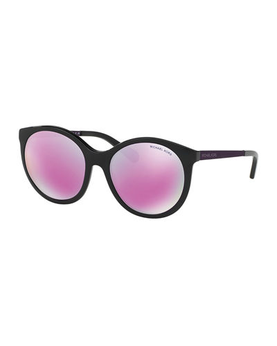 Mirrored Iridescent Butterfly Sunglasses