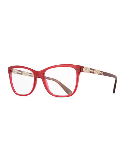 BVLGARI Serpenti 55mm Square Optical Frames