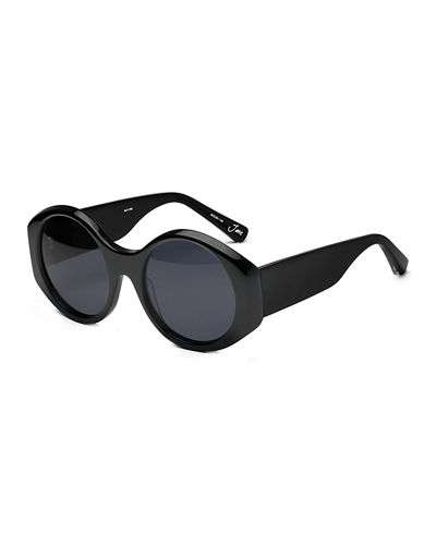 Jane Round Monochromatic Sunglasses
