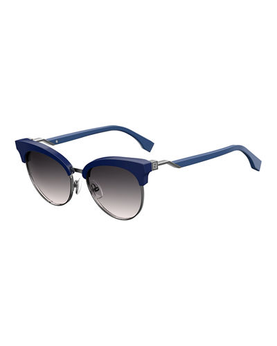 Square Semi-Rimless Sunglasses