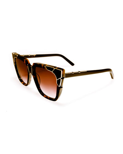 Charlie and the Angels Flat-Top Cat-Eye Sunglasses