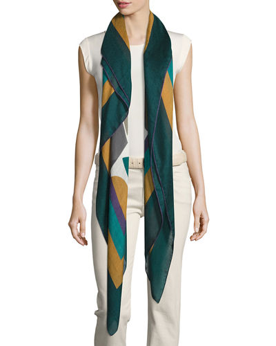 Abstract Portrait Soffio Scarf