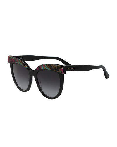 Paisley Cat-Eye Sunglasses