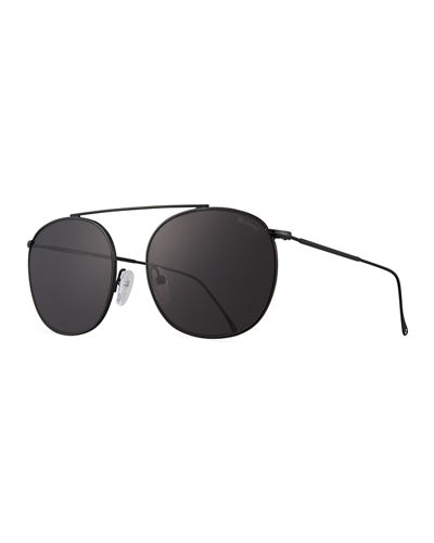 Mykonos II Stainless Steel Aviator Sunglasses