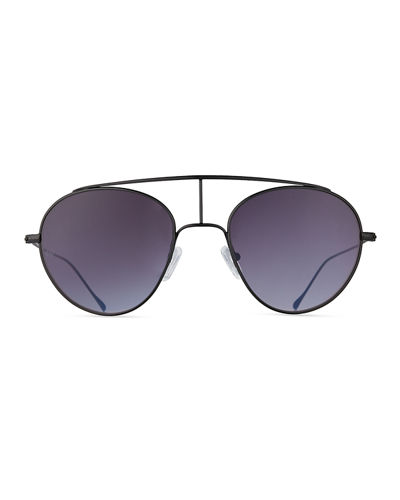 Geo VI Round Stainless Steel Sunglasses
