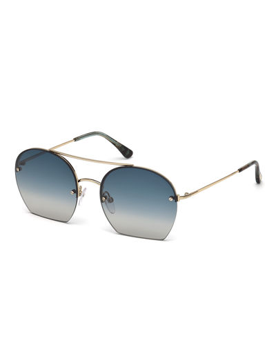 Antonia Cutoff Round Sunglasses