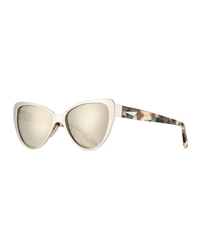 Capri Printed Cat-Eye Sunglasses