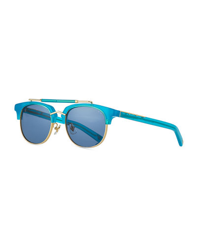 Turks & Caicos Square Semi-Rimless Sunglasses