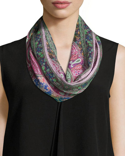Calcutta Printed Wool/Silk Scarf