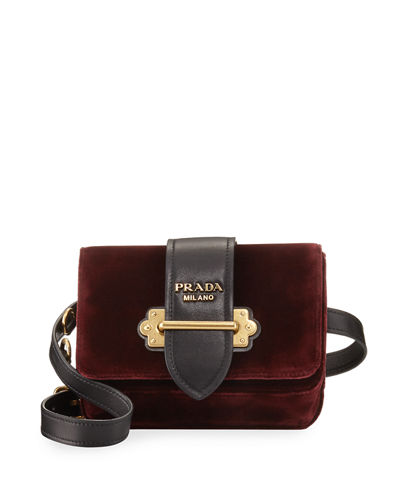 Cahier Velvet Trunk Belt/Shoulder Bag