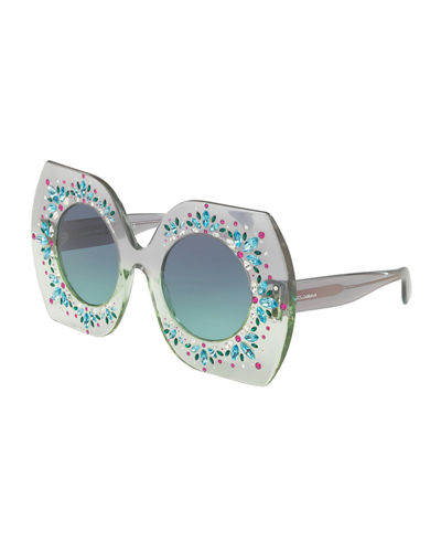 Embellished Round Sunglasses