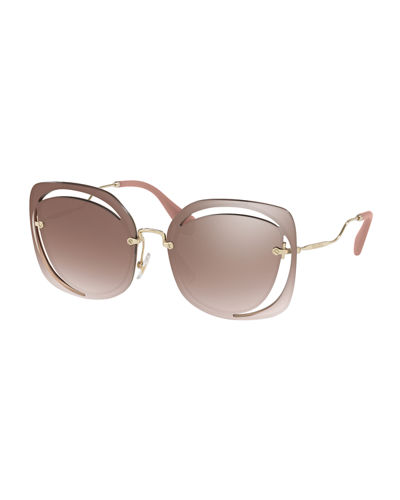 Square Cutout Metal Sunglasses
