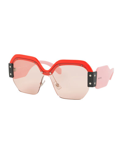 Sorbet Square Wrap-Around Sunglasses