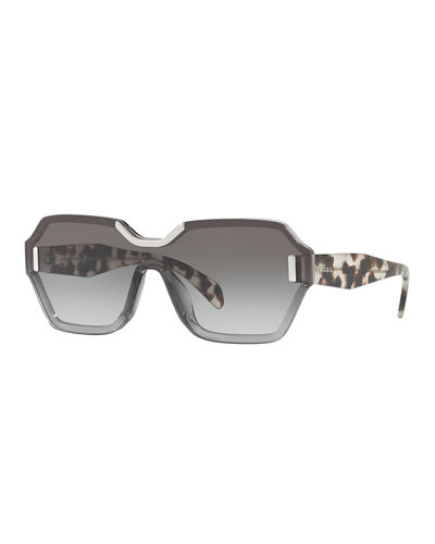 Two-Tone Hexagonal Sunglasses