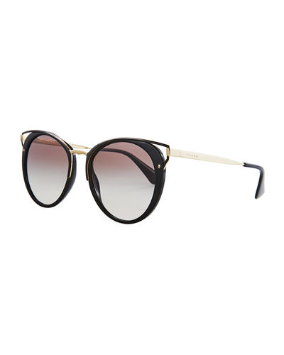 Cutout Round Sunglasses