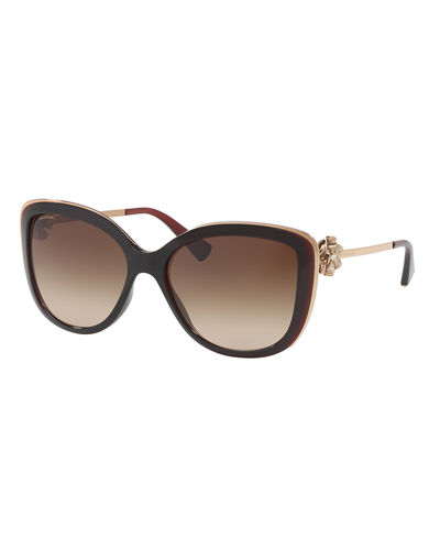 Rhinestone Bow Two-Tone Sunglasses