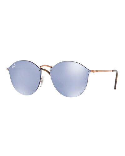Mirrored Rimless Sunglasses