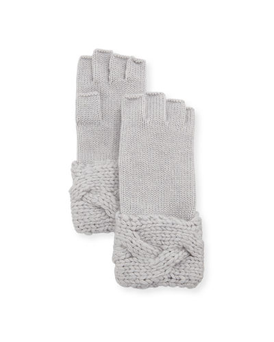 Il Borgo Fingerless Braided-Cuff Gloves