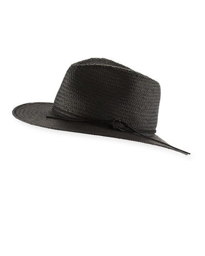 Packable Straw Fedora Hat
