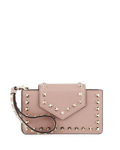Rockstud Leather Flap Phone Case