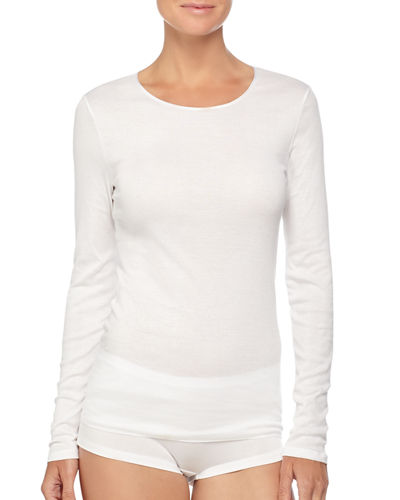 Cotton Seamless Long-Sleeve Top
