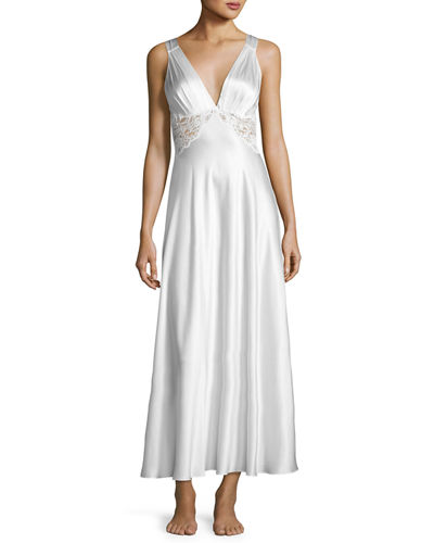 Christine Designs Antique Silk Nightgown