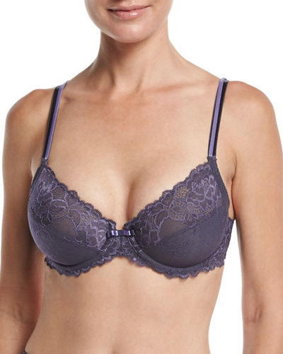 Roselia 3-Part Lace Underwire Bra, Milk