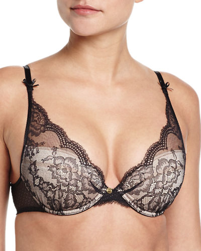 a0a59bb57c86b CHANTELLE PR EACUTE SAGE LACE PUSH-UP BRA