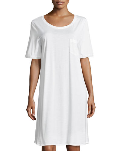 Cotton Deluxe Short-Sleeve Big Sleepshirt
