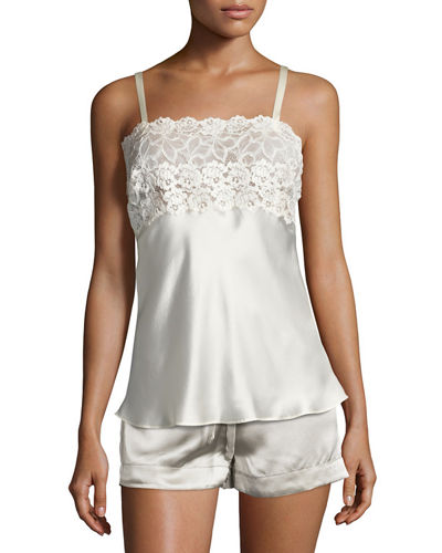 Lace-Top Silk Camisole