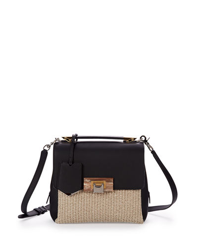 Le Dix Raffia Soft Mini Satchel Bag