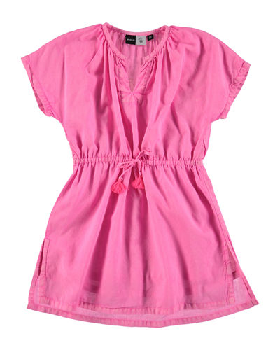 Molo Caly Short-Sleeve Drawstring Dress, Size 2T-12